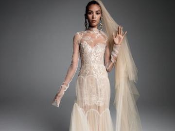 Бежевые свадебные платья